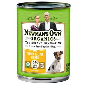 Newman's Own Organics USDA Organic 95% Turkey & Liver Grain-Free Dinner for Dogs - 12x 12.7 oz