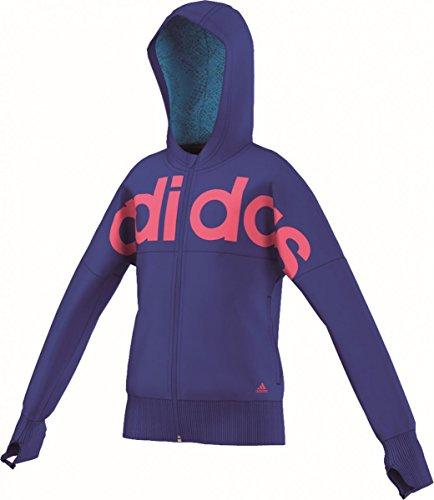Adidas YG W FN FZ HD–Sweatshirt für Mädchen blau/pink
