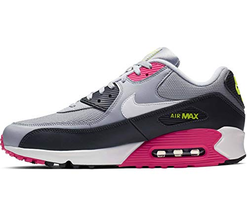 purchase cheap 779a4 101c9 Nike Men s Air Max 90 Wolf Grey White Rush Pink Volt Leather Casual Shoes  10.5 M US
