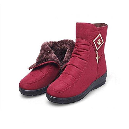 leggero Impermeabile 41 caldo piatto Inverno neve da Stivale stivali da donna YpZw4xTqF