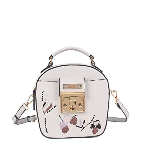 Crossbody Bag Embriodered Body Gray Size Cross Design One Floral Nikky Women's Gray w0qI0U