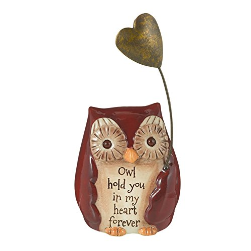 Grasslands Road Mini Inspirational Owl Figurine, 470792 (Owl Hold You in My Heart Forever)