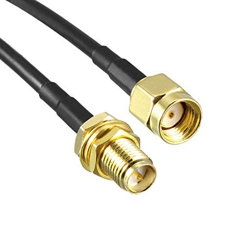 Antenna Extension Cable RP-SMA Male to RP-SMA Female Low Loss RG174 3.3 feet 2 Pieces