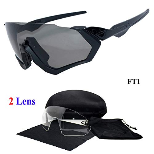 WSAJAnjei New 2 Lens Cycling Sunglasses Men Women Popular Outdoor Sports Jaw Breakers Glasses Bike Bicycle Cycling Eyewear FT1