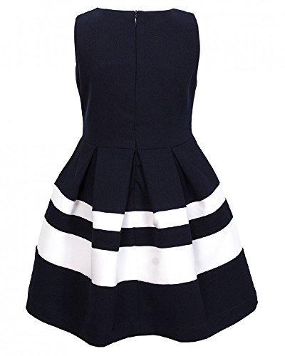 Weiß Kleid V Haarschmuck gestreift Schleifen 1 mit La Festliches Blau ETwdR0