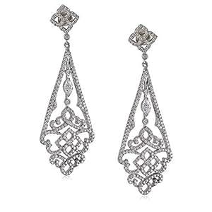 Lassein Women's Mixed Drop & Dangle Earrings, Silver - F001976E-001