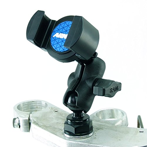 BuyBits Yoke 40 Motorcycle Cap Nut Mount & RoadVise Phone Holder for iPhone, Galaxy S3 S4 S5 S6, Galaxy Note, HTC ONE