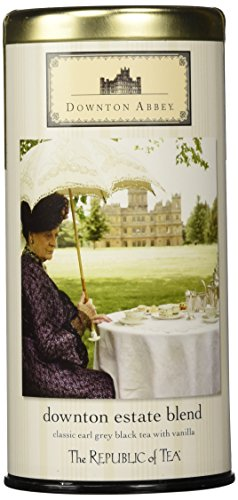 - Downton Abbey Estate Blend Earl Grey Black Tea with Vanilla Limited Edition Tin, Caffeinated, 36 Tea Bags