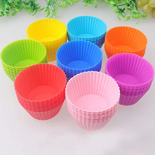 1 lot 8pcs/set Round DIY Cupcake Chocolate Muffin cakemolds Silicone Colorful Baking Dishes Pan Form Cake Dessert Decorating Tools