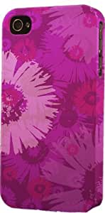 Purple Floral Pattern Dimensional Case Fits Apple iPhone 5c