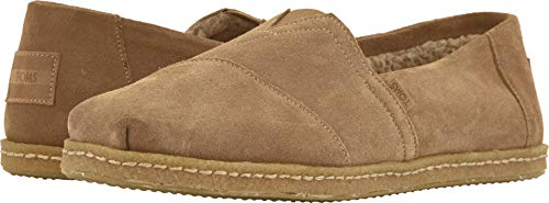 (TOMS Men's Venice Collection Alpargata Toffee Suede W/Shearling On Crepe 9.5 D US)