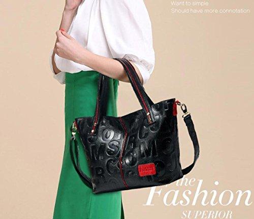 Purse Designer Layer Black Black Handbags Embossed Cowhide Header Women Crossbody Handbags Shoulder MYLL Bags Zipper Wallets xOFYvqRvw