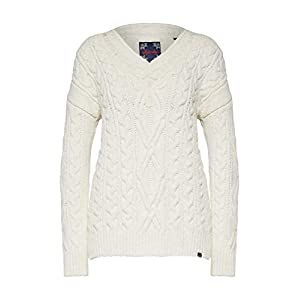 Superdry Lannah Vee Cable Knit Womens Cardigan