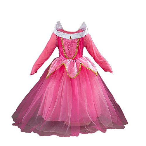 In My Closet Halloween Costumes (ZLOLIA Baby Clothes Autumn Winter Kids Girl Fancy Xmas Halloween Costume Dress (140, Pink))