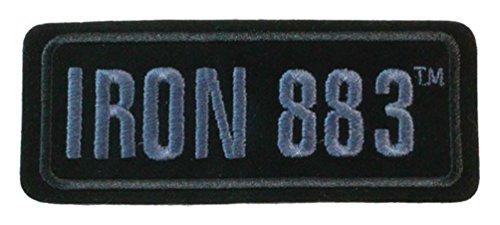 Harley-Davidson Embroidered Iron 883 Emblem Patch, SM 4.125 x 1.75 in EM187802