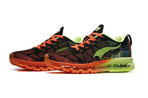 OneMix - Zapatillas de running para mujer verde y negro