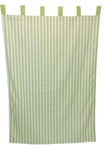 (Tadpoles Stripe Curtain Panels, Set of 2, Green)