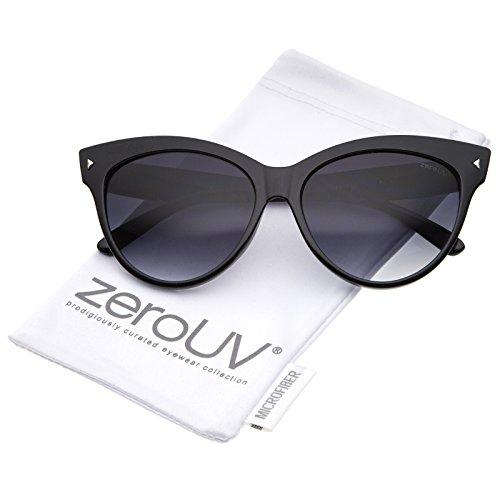zeroUV - Women's Mod Oversize Horn Rimmed Cat Eye Sunglasses 52mm (Black / - Sunglasses Eye Cat Farrow Linda