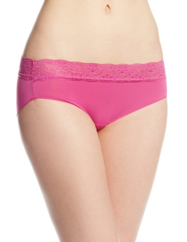 Bali Women's No Lines No Slip Hipster Panty with Lace Waistband
