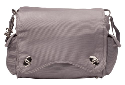 Kalencom Water Repellant Messenger Bag, Platinum, Bags Central