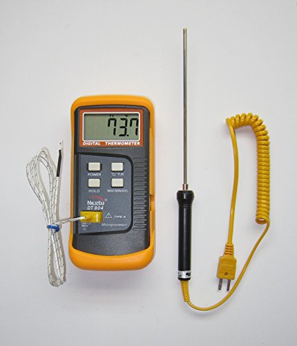 K-type Scientific Thermometer Nicety DT804 with stainless steel thermocouple TC-3