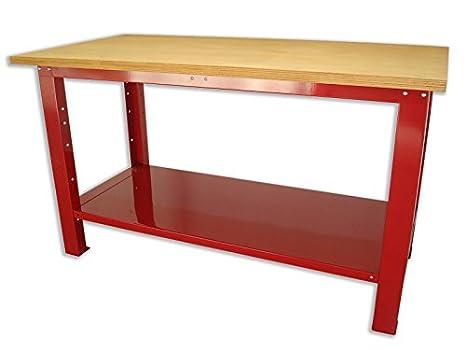 Tavolo Da Lavoro Per Moto : Banco da lavoro con piano in legno serie industria