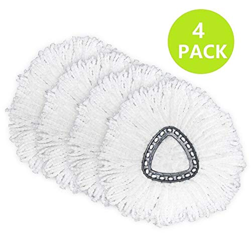 4 Pack Spin Mop Replacement Head Microfiber Mop Head Refills Easy Cleaning Mop Head Replacement