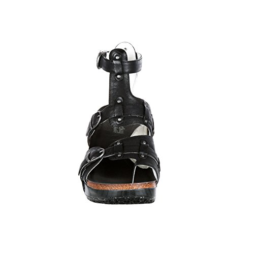 Leather Set M39 Sandal 4EurSole Free RKH091 Women's Rocky Black CXUg5xqWw