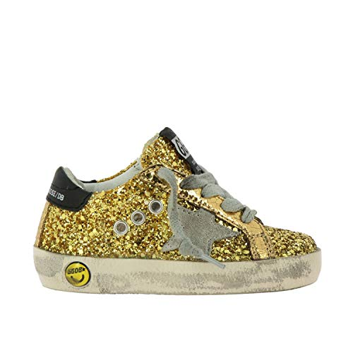 Golden Goose Baby Girls G34ks001a80 Gold Leather Sneakers