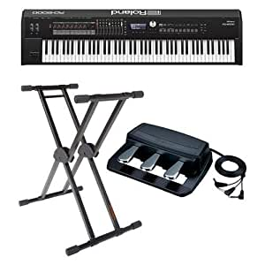 roland rd 2000 88 weighted keys digital stage piano bundle with roland rpu 3 pedal. Black Bedroom Furniture Sets. Home Design Ideas