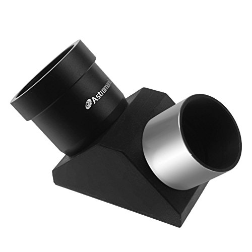 "Astromania 1.25"" 90-degree Erecting Prism optical Prism inside rather than a mirror which makes your image clear and sharp"