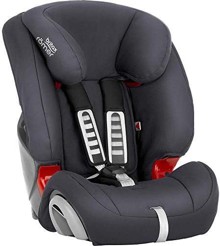Britax Römer Silla de coche 9 meses - 12 años, 9 - 36 kg, EVOLVA 1-2-3 Grupo 1/2/3, Storm Grey: Amazon.es: Bebé