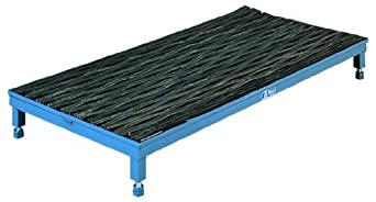"SPG WSE1N25-5 Gillis/Jarke 5""-8"" Adjustable 1-Step Platform with Recessed Ergonomic Matting, 60"" Length, 24"" Width"