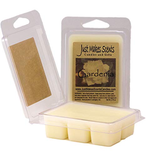 (Just Makes Scents 2 Pack - Gardenia Scented Soy Wax Melts | Gardenia Flower Fragrance Wax Cubes | Hand Poured in The USA Candles & Gifts)