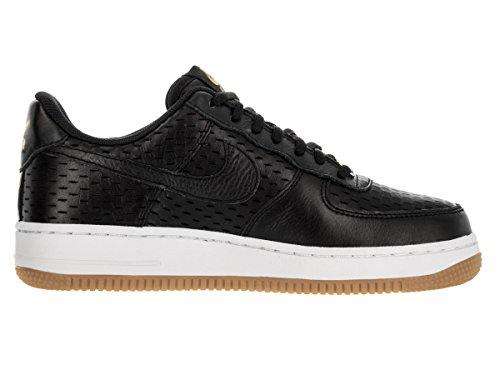 Nike Wms Air Force 1 '07 Prm, Zapatillas de Deporte para Mujer Negro (Black / Black-Summit White)