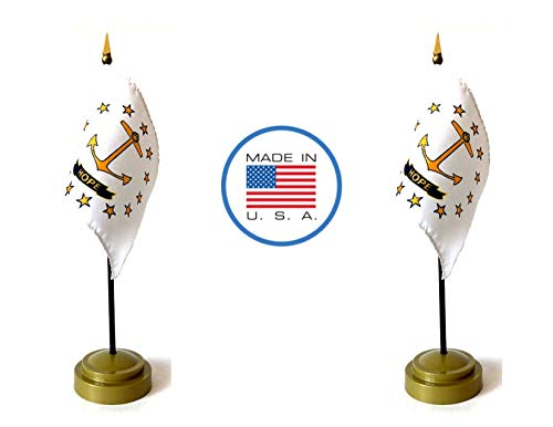 Made in The USA Flag Set. 2 Rhode Island Rayon 4