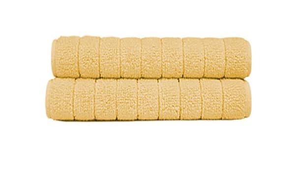 Sorema Basic - Manopla para baño, de algodón, 16 x 21 cm, color amarillo fuerte: Amazon.es: Hogar