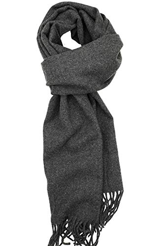 - Achillea Soft & Warm Solid Color Cashmere Feel Winter Scarf Unisex (Charcoal Grey)