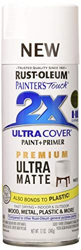 Paint White Spray Flat - Rust-Oleum 331181 Painters Touch 2X Spray Paint, Matte White