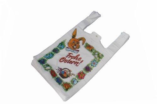 100 Tragetaschen Hemdchentragetaschen Hemdchen Tüten Beutel Shopper Frohe Ostern 25 + 12 x 46 cm