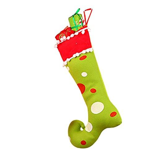 [Coerni Premium Christmas Decorative Hanging Gifts Candy Bag (Green)] (Teen Light Up Green Lantern Costumes)