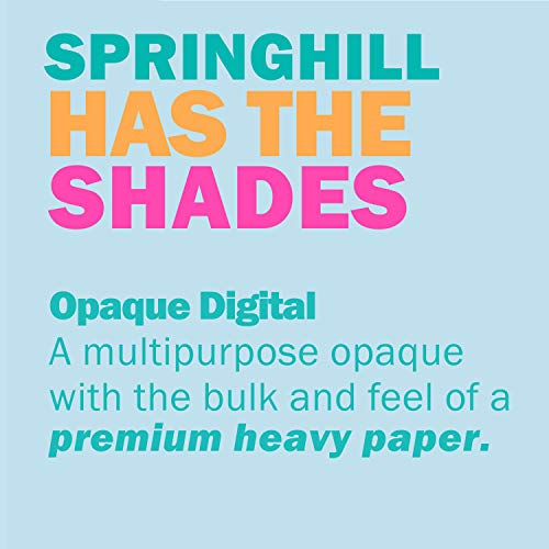 Springhill Colored Paper, Heavy Paper, Ivory Paper, 28/70lb, 104 gsm, 8.5 x 11, 1 Ream / 500 Sheets - Opaque, Thick Paper (024157R) by Springhill (Image #6)