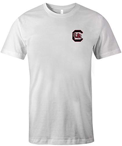 NCAA South Carolina Fighting Gamecocks Adult US Flag State Jersey Short sleeve T-Shirt, X-Large,White
