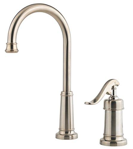 Pfister LG72-YP2K Ashfield 1-Handle Bar/Prep Kitchen Faucet in Brushed Nickel, (Ashfield One Handle)