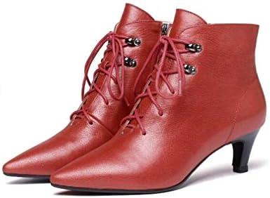 Hy Calzado de Mujer, Botines de tacón de Aguja con Personalidad de Piel de otoño/Invierno, Botas de Moda de Mocasines, Botas de Caballero de Confort, ...