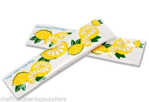 100x Hot or Cold Lemon Fresh Hand Wet Wipe