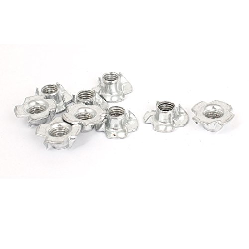 Pitch Tee - M8x1.25mmx20mm T Nut Zinc Plated 4 Prong Tee Nuts Fasteners 9 Pcs