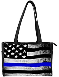 Snaptotes Thin Blue Line American Flag in Support of Police and Law Enforcement Manufactured in USA Multipurpose...