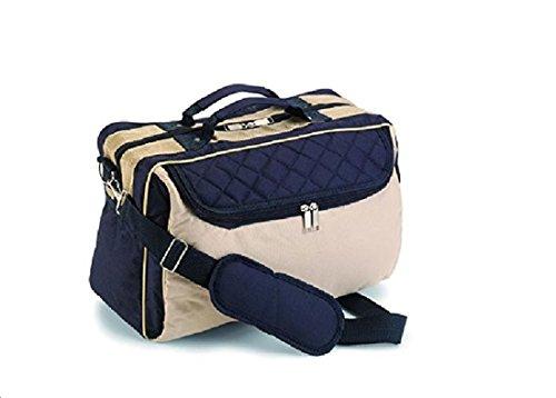 Reisetasche Umhängetasche 'Lagos', Farbe: Blau-Creme Tasche Arbeit Freizeit Sport Fa.Bowatex