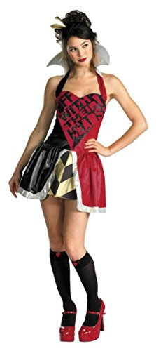 Disguise Womens Sexy Queen Of Hearts Disney Theme Party Fancy Halloween Costume, M (8-10)
